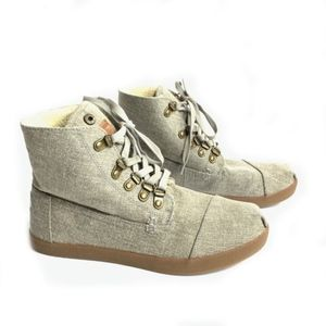 TOMS Women's Taupe Hemp Boots